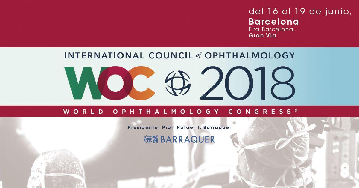 Barraquer en el Congreso Mundial de Oftalmología, Barcelona WOC 2018