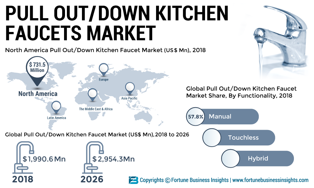 Pull Out and Pull Down Kitchen Faucet Industry 2019 Global Market Growth, Trends, Revenue, Share and Demands Research Report