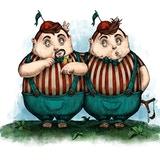 Tweedledee & Tweedledum - Another Wonderland Tale Alice