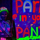 Party In Your Pants An enlightened, feminist dance with UV paint play: body-doodles, holi powder, splatter wall, uv paint pistols and more!