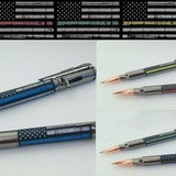 First Responder Bolt Action Pen POLICE FIRE EMS Thin Line A one of a kind pen to show your support to the men and women who put their lives on the line everyday