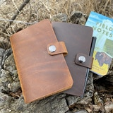 "Premium Leather Notebook Covers Handcrafted, artisan, beautiful, and affordable. Designed to fit Field Notes and all 3.5 x 5.5"" notebooks."