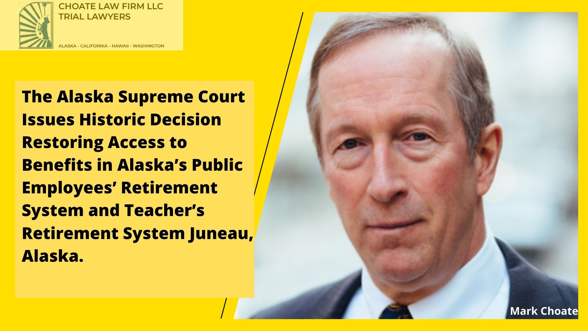 The Alaska Supreme Court Issues Historic Decision Restoring Access to Benefits in Alaskas Public Employees Retirement System and Teachers Retirement System Juneau Alaska.