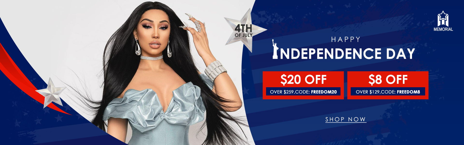 independence day unice hair sale