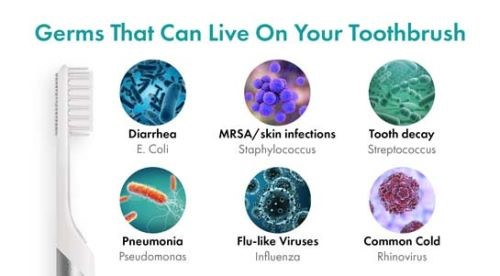 Germs on your toothbrush that bril can kill