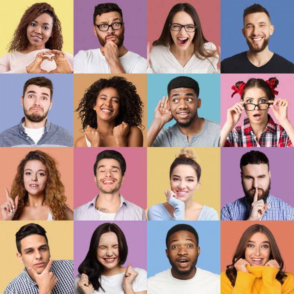 depositphotos 253244726 stock photo set of millennials emotional portraits 1